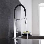 Design Keukenmengkraan met flexibele uitloop - Zwart