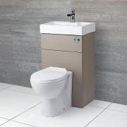 Toilet met ingebouwde wastafel - 50cm x 86cm x 87,5cm - Steengrijs