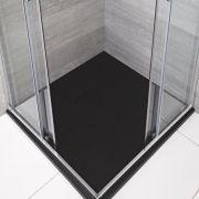 Douchebak Vierkant Grafiet Steeneffect 90 x 90cm|Rockwell