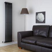 Savy Designradiator Verticaal Zwart 178cm x 35,4cm x 8cm 1043 Watt
