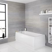 Rechthoekig Acryl Art Deco stijl Ligbad - 170 x 75cm excl. badpaneel