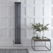 Windsor Designradiator Verticaal Antraciet 180 x 29,3cm 1196 Watt