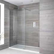 Inloopdouche Combinatie Chroom & Acryl Douchebak 140 x 90cm