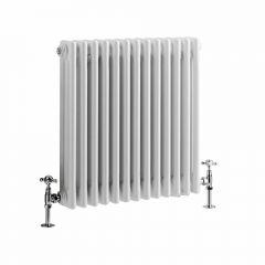 Windsor Designradiator Horizontaal Klassiek Wit 60cm x 60,8cm x 10cm 950 Watt