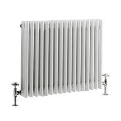 Windsor Designradiator Horizontaal Klassiek Wit 60cm x 78,8cm x 10cm 1243 Watt