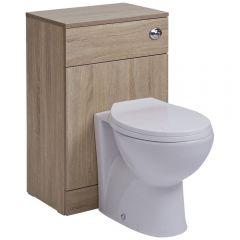 BASIC Toiletmeubel met standaard Toiletzitting -50cm x 33cm x 76,5cm met Dual Flush spoeling