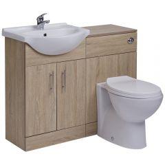 BASIC Wastafelmeubel & Toiletcombinatie 104cm x 82cm x 81cm