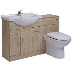 BASIC Wastafelmeubel & Toiletcombinatie 124cm x 88cm x 81cm