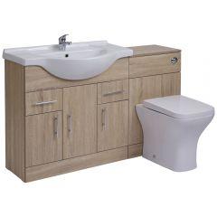 BASIC Wastafelmeubel & Toiletcombinatie 134cm x 85cm x 81cm