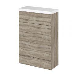 500mm x 255mm X 864mm Modern Drijfhout effect Staand WC meubel - stortbak & toilet niet inbegrepen