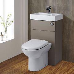 Toilet met ingebouwde wastafel - 50cm x 86cm x 90,5cm - Steengrijs