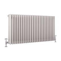 Windsor Designradiator Horizontaal Klassiek Wit 60cm x 117cm x 13,3cm 2467 Watt