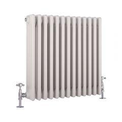 Windsor Designradiator Horizontaal Klassiek Wit 60cm x 58,5cm x 13,3cm 1234 Watt