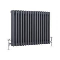 Windsor Designradiator Horizontaal Klassiek Antraciet 60cm x 76,5cm x 10cm 1243 Watt