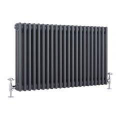 Windsor Designradiator Horizontaal Klassiek Antraciet 60cm x 99cm x 10cm 1794 Watt