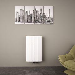 Aurora Designradiator Horizontaal Middenaansluiting Aluminium Wit 60cm x 37,5cm x 4,5cm 512 Watt