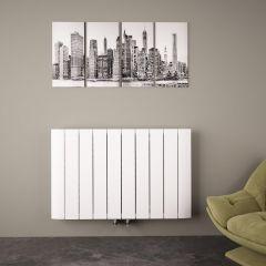 Aurora Designradiator Horizontaal Middenaansluiting Aluminium Wit 60cm x 94,5cm x 4,5cm 1279 Watt