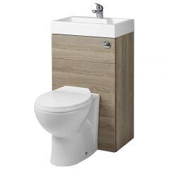 Toilet met ingebouwde wastafel - 50cm x 89cm x 85,7cm (ronde uitvoering)
