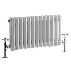 Windsor Designradiator Horizontaal Klassiek Wit 30cm x 60,8cm x 6,8cm 414 Watt