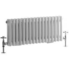 Windsor Designradiator Horizontaal Klassiek Wit 30cm x 78,8cm x 6,8cm 541 Watt