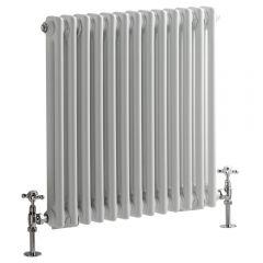 Windsor Designradiator Horizontaal Klassiek Wit 60cm x 60,8cm x 6,8cm 738 Watt