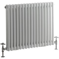 Windsor Designradiator Horizontaal Klassiek Wit 60cm x 78,8cm x 6,8cm 965 Watt