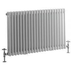 Windsor Designradiator Horizontaal Klassiek Wit 60cm x 101,3cm x 6,8cm 1249 Watt