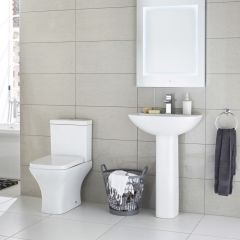Moderne Wastafel & Toiletcombinatie