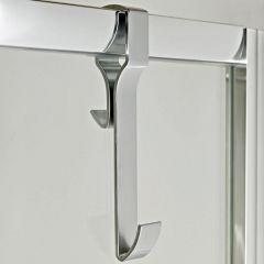 Handdoekhaakje geschikt voor douchewanden, -deuren en badwanden ( met frame)