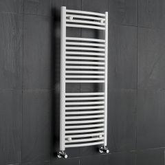Etna Gebogen Handdoekradiator Wit 120cm x 50cm x 3cm 699 Watt