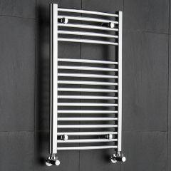 Ischia Gebogen Handdoekradiator Chroom 80cm x 50cm x 4,8cm 327 Watt