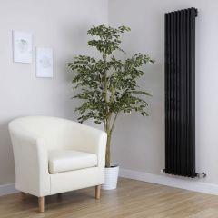Parallel Designradiator Verticaal Zwart 160cm x 34,2cm x 8,4cm 1053 Watt