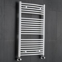 Etna Gebogen Handdoekradiator Wit 100cm x 60cm x 5,2cm 740 Watt