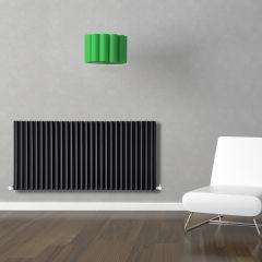 Revive Designradiator Horizontaal Zwart 63,5cm x 164,7cm x 7,8cm 2609 Watt