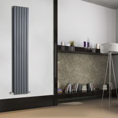 Sloane Designradiator Verticaal Antraciet 178cm x 35,4cm x 7,2cm 1448 Watt