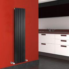 Sloane Designradiator Verticaal Zwart 160cm x 35,4cm x 7,2cm 1193 Watt
