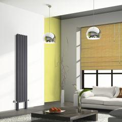 Revive Plus Designradiator Verticaal Met poten Antraciet 200cm x 35,4cm x 7,8cm 1401 Watt