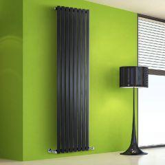 Helius Designradiator Verticaal Zwart 178cm x 56cm x 6cm 1401 Watt