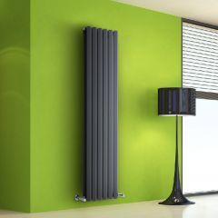 Helius Designradiator Verticaal Antraciet 160cm x 42cm x 8,6cm 1475 Watt