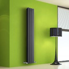 Helius Designradiator Verticaal Antraciet 160cm x 28cm x 8,6cm 983 Watt