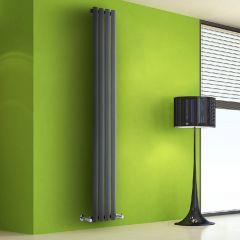 Helius Designradiator Verticaal Antraciet 178cm x 28cm x 6cm 700 Watt