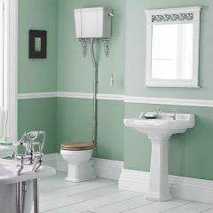 Richmond Wastafel - 59,5cm & Hooghangtoilet en Keuze Toiletzitting