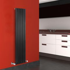 Sloane Designradiator Verticaal Zwart 160cm x 35,4cm x 5,4cm 862 Watt