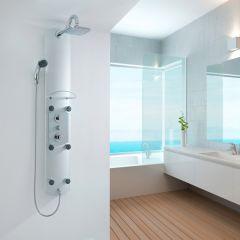 Curaçao Thermostatisch Douchepaneel met Planchet Hoek- en wandmontage