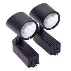 2 x 7W LED Railspots - Zwart