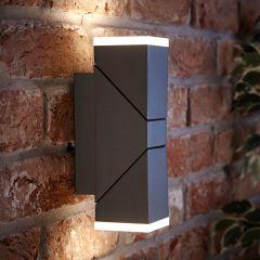 Biard Ziersdorf LED 13W IP54 Verstelbaar Op/Neer Licht Vierkant - Antraciet