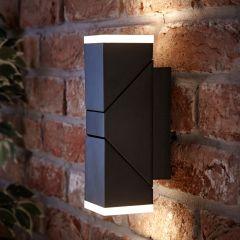 Biard Ziersdorf LED 13W IP54 Verstelbaar Op/Neer Licht Vierkant - Zwart