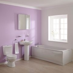 Wastafel, Toilet en Ligbad combinatie 1700mm x 700mm