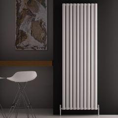 Revive Air Verticale Aluminium Dubbelpaneel Designradiator - 180cm x 59cm x 7,6cm Wit 2506 Watt