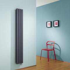 Revive Designradiator Elektrisch Verticaal Antraciet 160cm x 23,6cm x 7,8cm